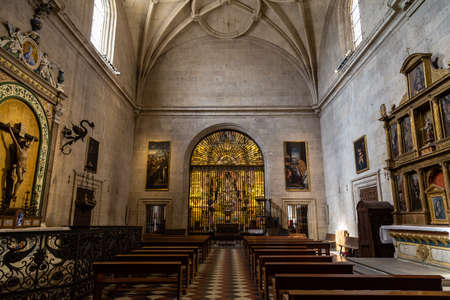 Sept 2018 - Segovia, Castilla y Leon, Spain - A small chapel inside of Segovia Cathedral. It was the last gothic style cathedral built in Spain, during the sixteenth century.