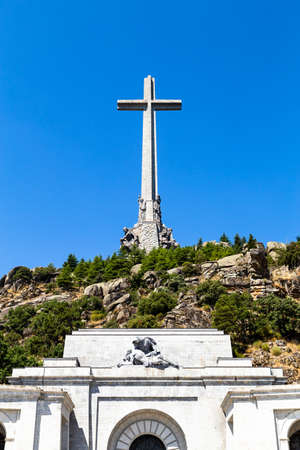 Valley of the Fallen, the burying place of the Dictator Franco on the Sierra the Guadarrama, Madrid, Spain