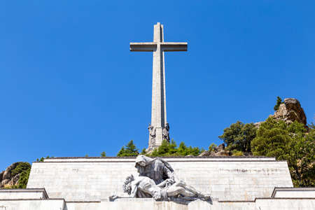 The valley of the Fallen (Valle de Los Caidos), the burying place of the Dictator Franco on the Sierra the Guadarrama, Madrid, Spain