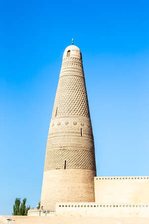 Emin minaret, or Sugong tower, in Turpan, is the largest ancient Islamic tower in Xinjiang, China.