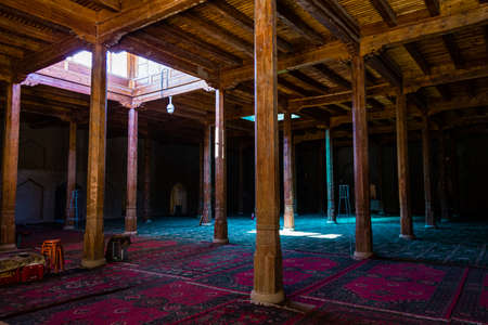 Aug 2017, Turpan, China: the interior praying chamber of Emin minaret, or Sugong tower. Built in 1777, it is the largest ancient Islamic tower in Xinjiang, China