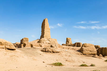 Ruins of Gaochang, Turpan, China. Dating more than 2000 years, Gaochang and Jiaohe are the oldest and largest ruins in Xinjiang. Imagens