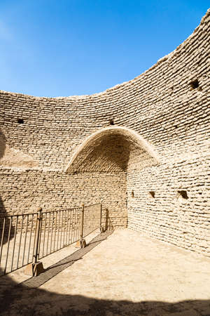 Ruins of Gaochang, Turpan, China. Dating more than 2000 years, Gaochang and Jiaohe are the oldest and largest ruins in Xinjiang. Inside the buddhist temple