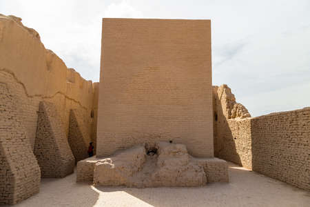 Ruins of Gaochang, Turpan, China. Dating more than 2000 years, Gaochang and Jiaohe are the oldest and largest ruins in Xinjiang. Central hall of the buddhist temple