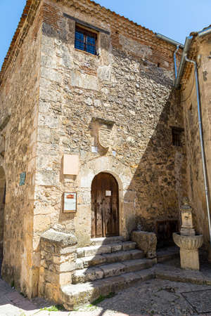 May 2019, Pedraza, Castilla Y Leon, Spain: the carcel de la Villa, the old Jail. Pedraza is one of the best preserved medieval villages of Spain, not far from Segovia Editorial
