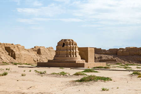 Ruins of Gaochang, Turpan, China. Dating more than 2000 years, Gaochang and Jiaohe are the oldest and largest ruins in Xinjiang. 写真素材