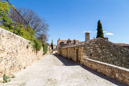 Pedraza, Castilla Y Leon, Spain: Calle de las cuestas. Pedraza is one of the best preserved medieval villages of Spain, not far from Segovia