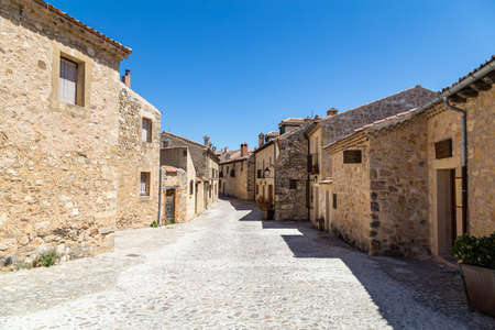 Pedraza, Castilla Y Leon, Spain: Calle de la Florida. Pedraza is one of the best preserved medieval villages of Spain, not far from Segovia