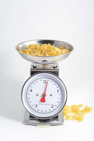 be: pasta to be cooked on weighing scales