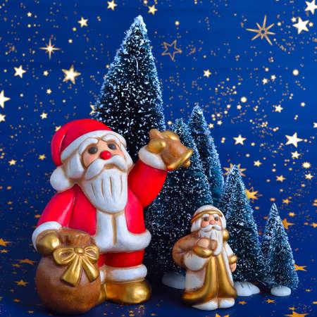 brings: Santa Claus brings gifts