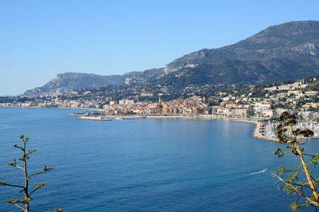 monte carlo: cote dAzur with Menton and Monte Carlo Stock Photo