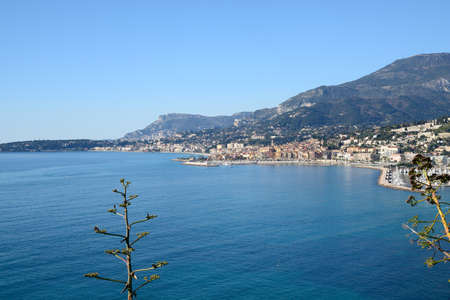 monte carlo: cote dAzur with Menton and Monte Carlo Stock Photo