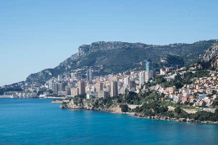 monte: Monte Carlo overlooking the Cote dAzur-France