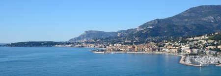 carlo: cote dAzur with Menton and Monte Carlo Stock Photo