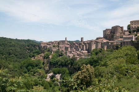 view of Sorano Maremma Italy