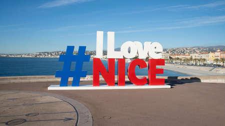 i love Nice Reklamní fotografie