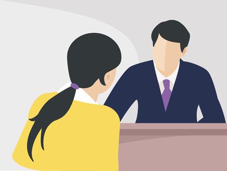 Job interview vector illustration. Illustration