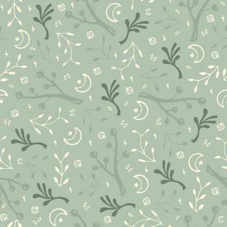 Floral green texture vector illustration. Illustration
