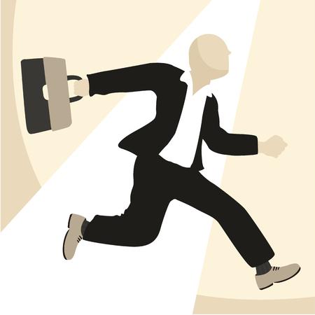 homme d & # 39 ; affaires courir illustration vectorielle