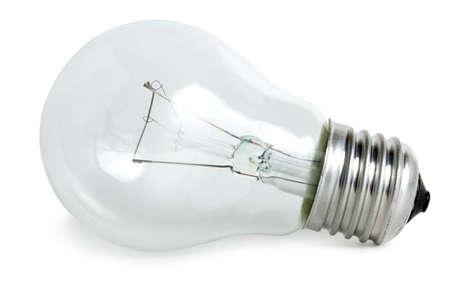 A light bulb on white background. Stock Photo - 6188683
