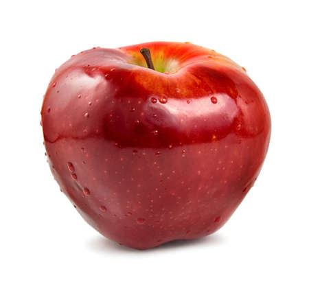 Red ripe apple isolated on a white background photo