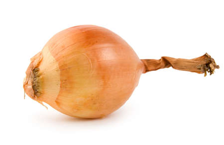 pealing: Onion isolated on a white background Stock Photo