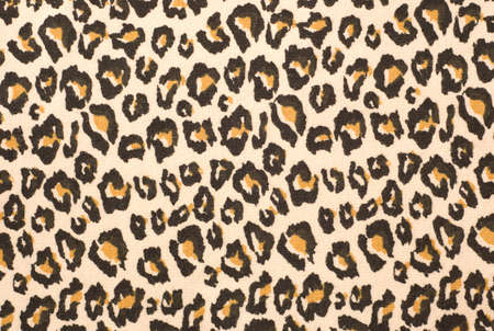A printed representation of the beautiful markings of a Leopard skin, this, on a piece of fabric. photo