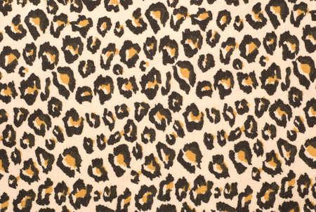 impresion de los animales: Una representaci�n impresa de los marcadores de un leopardo de hermosas piel, esto, en un trozo de tela.
