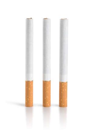 cigarette filter: Three cigarettes