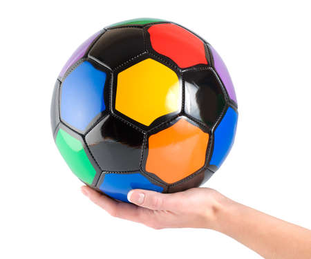 Soccer ball in hand Stock Photo - 8577093