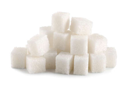 sugar cubes: Sugar cube isolated Stock Photo