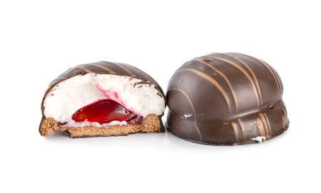Chocolate bar with cream
