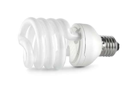 Energy saving  fluorescent lightbulb. Path Stock Photo - 9104068