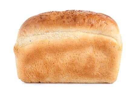 bread loaf: Pagnotta di pane isolato su sfondo bianco