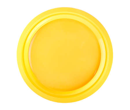 Yellow disposable plate Stock Photo - 9377253