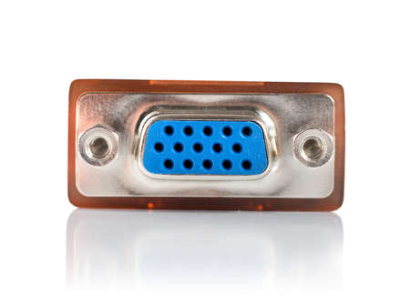 Monitor connector isolated photo