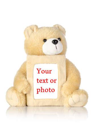 teddy bear: Oso de peluche con marcos Foto de archivo