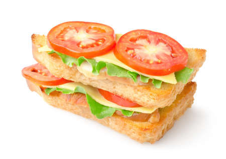 toasted: Sandwich with vegetables
