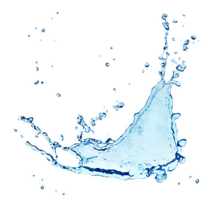 drops of water: Blue water splash