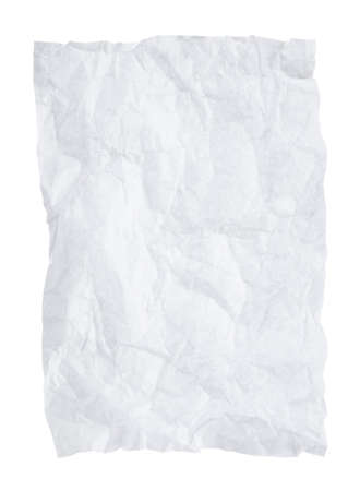 white textured paper: Crumpled paper