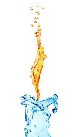 Candle from water photo