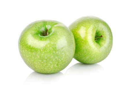 green apples: Two green apples