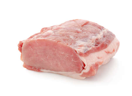 Piece of pork isolated