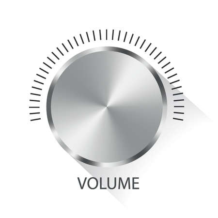 volume knob: Metal volume knob. Vector illustration.