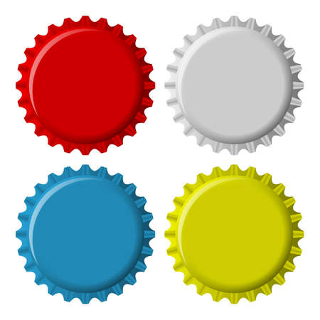 bottle cap: Bottle Cap isolated on a white background  EPS10 Illustration