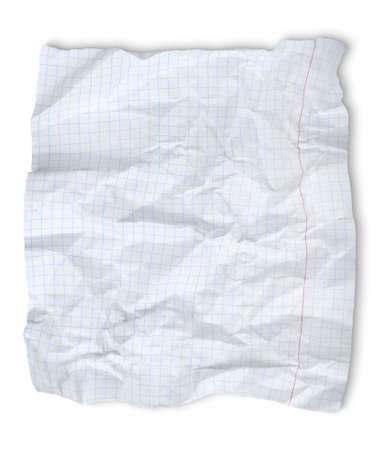 Crushed sheet of paper Stock Photo - 13223874