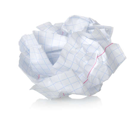 feuille froiss�e: Feuille de papier froiss�