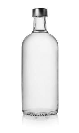Bottle of vodka isolated photo