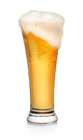 beer glass: Glass of beer
