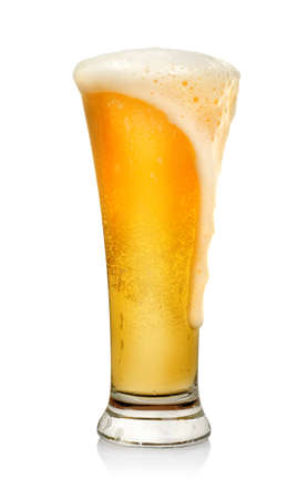 shot glass: Glass of beer isolated Stock Photo